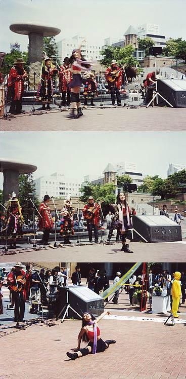 5月3日尼崎駅前でのダンス